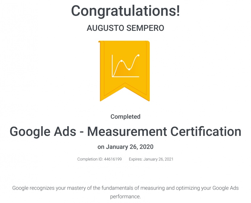 Google Ads - Measurement Certification Panama