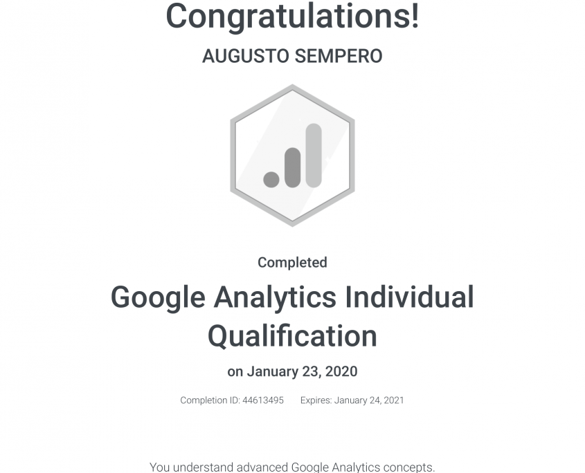 Google Analytics Individual Qualification Panama