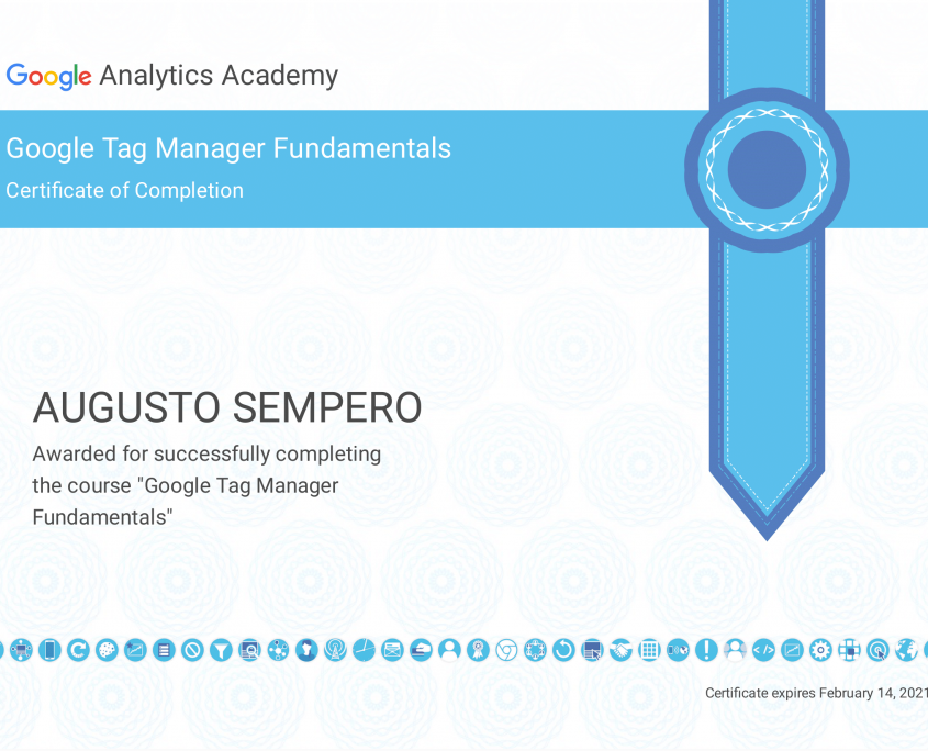Tag Manager Course Certificate Panama