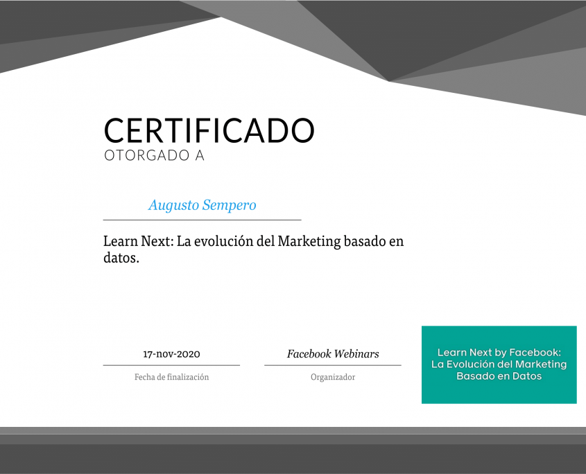 La evolución del Marketing basado en datos certificate-1